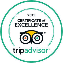 201 Certificate of Excellence from tripadvisor