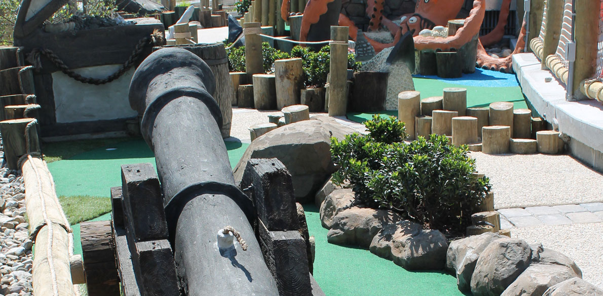 Canon on putt putt course